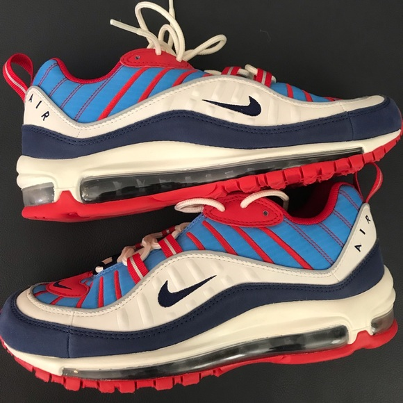 air max 98 blue red and white